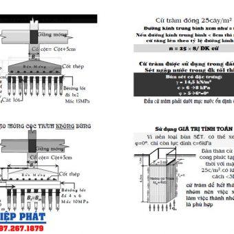 Thiết kế móng cừ tràm xây dựng, và tính toán móng cừ tràm cần biết - bản vẽ móng cừ tràm
